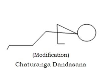 Chaturanga Dandasana Modification